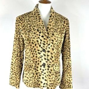 Olsen Europe Fur Jacket Leopard Vegan Lined